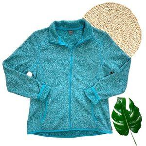 Eddie Bauer Quest Fleece Raglan Full-Zip Jacket L